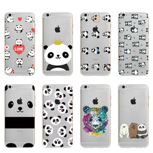 font b 2018 b font new style Fashion Cute Panda Soft TPU Silicone Case For