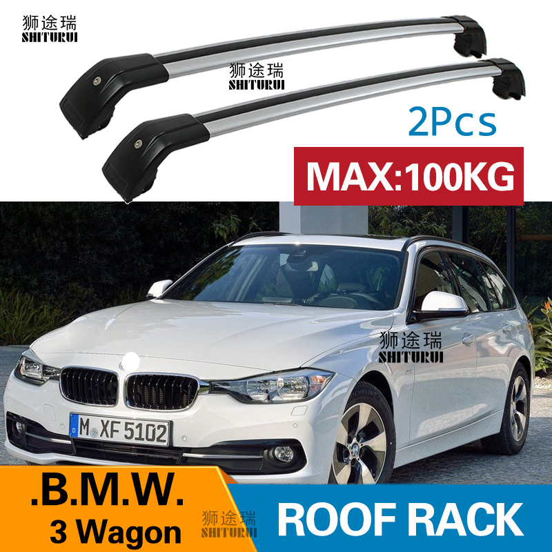 SHITURUI 2Pcs Roof Bars For BMW 3 Series Station Wagon 2012+  Aluminum Alloy Side Bars Cross Rails Roof Rack Luggage Carrier