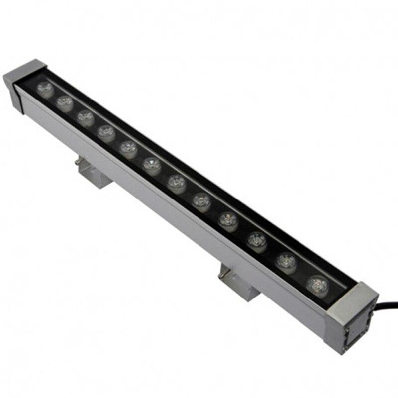 2 шт./лот высокой мощности 12 Вт 46*46*500 мм IP65 водонепроницаемый открытый светодиодный прожектор светодиодный промывная настенная лампа Пейзаж Настенный светодиодный светильник