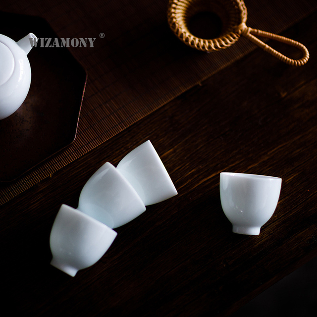 6pcs Speical Pricewizamony Tea Cup Tea Set White Ceramic
