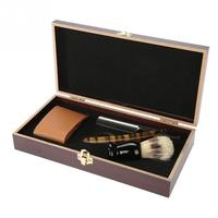 Men's Shaving Wooden Box Kit Barber Shaving Kit Straight Manual Shaving Brush Sharpening Strop