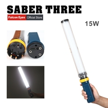 Falcon Eyes Saber3 LED Photo Video Continuous Light 15W 3200/5600K High CRI95 Dimmable Power Output Handheld Stick