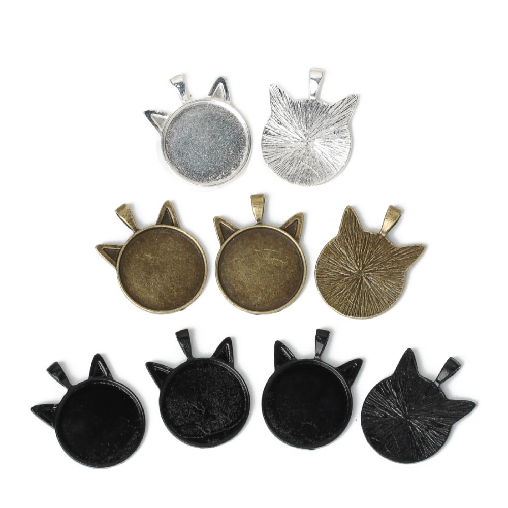 4PCS Antique Bronze Alloy Stereo Horse Head Pendant Charms Finding 51*51*8mm