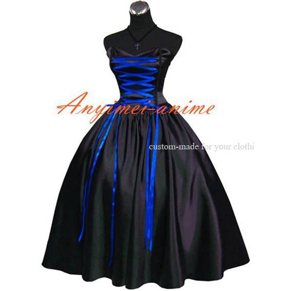 Robe médiévale gothique Lolita Punk robe de bal robe Cosplay Costume sur mesure [G487]