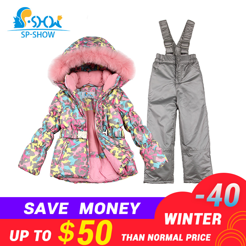 a82267ac5920 BUY 1 SUIT GET 1 FREE SCARF -30 degrees SP-SHOW Winter 90% White ...