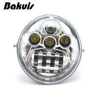 1PCS X Chrome LED Headlight For Harley Davidson V Rod VRod Headlight VRSC/V ROD LED HEADLIGHT Motorcycle Aluminum Headlight