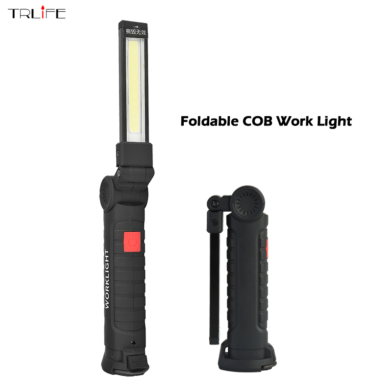 30 Led Rechargeable Inspection Lamp Light Torch Cordless: Aliexpress.com : Buy Foldable COB Work Light + LED