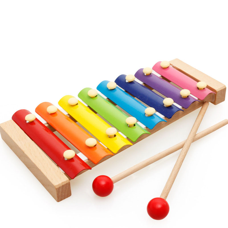 8-Note Music Instrument Toy Wooden Frame Style Xylophone Piano Colorful Children Kids Musical Funny Toys Baby Educational Gifts
