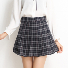 Korean Pleated Checkered College Skirt