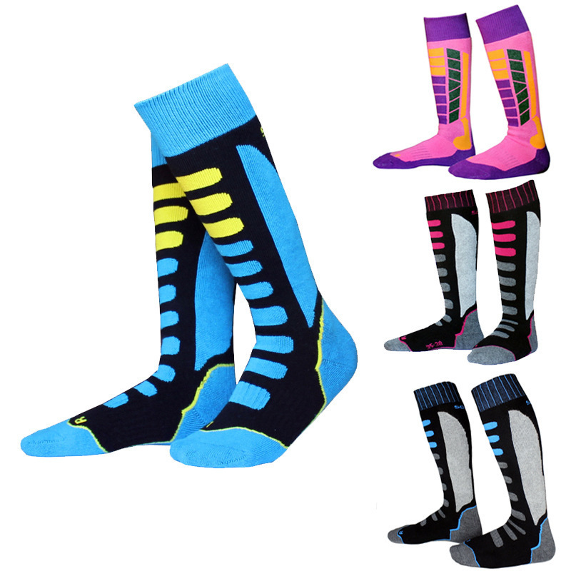 2pair/lot professional women men skiing socks thermal snow sports ski socks cotton warm breathable outdoor children socks