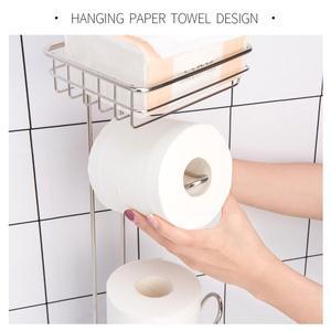 Image 4 - נירוסטה נייר טואלט רול Dispenser רחצה נייר מחזיק Stand בית אחסון מדף עבור טלפון סלולרי