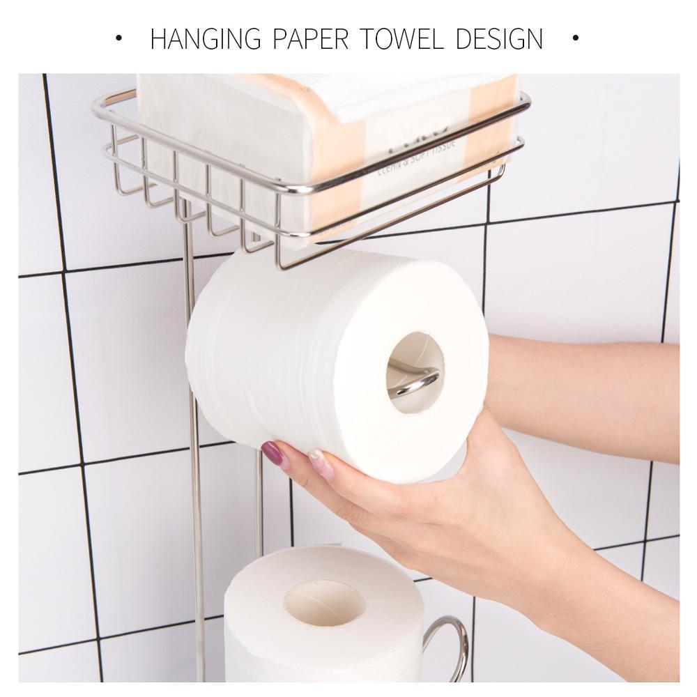 Shelf Stand Roll-Dispenser Paper-Holder Toilet-Paper Stainless-Steel Bathroom Home-Storage