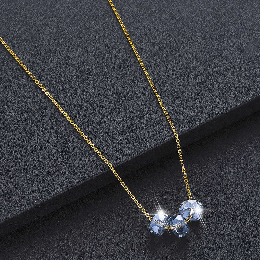 Chandler Crystal Bead Pendant Necklaces Girls Wedding Party Prom Christmas Long Necklace Sexy Blue Rhinestone Statement Chocker