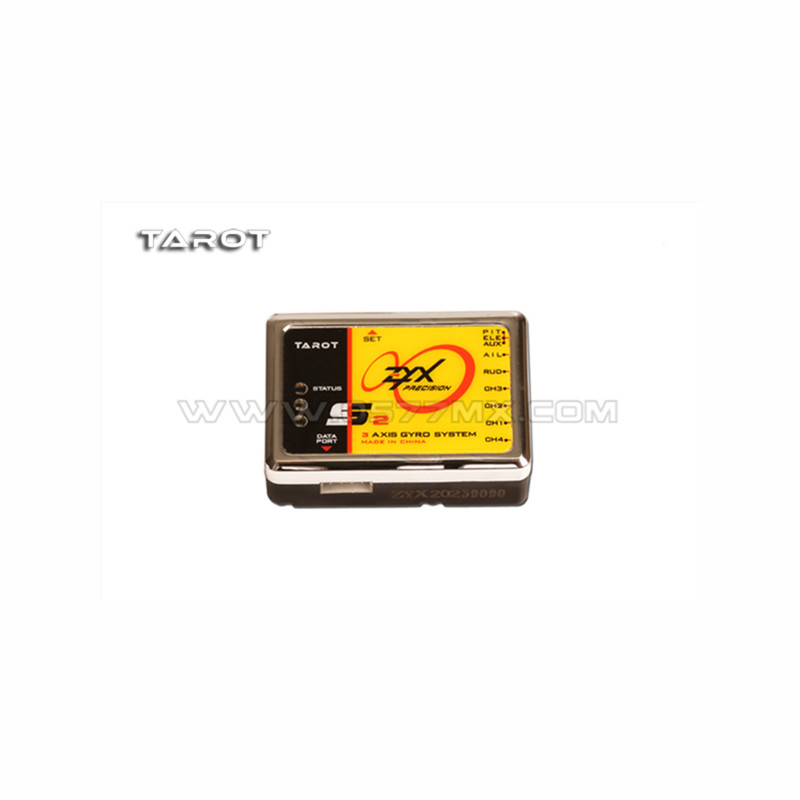 Tarot-RC ZYX-S2 Flybarless 3-Axis Gyro System ZYX-S V2 ZYX23 For Trex 450 500 550 600 700 3G FBL RC Helicopter mb tgz380 3 axis gyro flybarless system for align trex t rex etc 450 550 600 700 rc helicopter fbl dfc