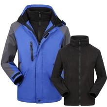 Outdoor Jacket Windstopper Waterproof 3 In 1 Jackets Men Camping Hunting Hiking Tactical Fleece Clothing Veste Ski Winter Coat