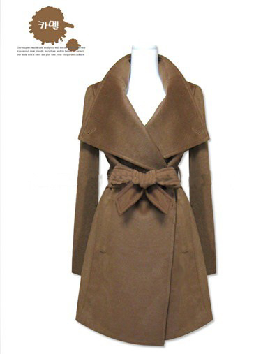 De Outwear blue Black Couleur Manteau Longues Solide Européenne Mince down 2016 Femelle Femmes Nouvelles Pardessus brown Turn Mode D'hiver Col Laine Vestes wxISHUqRC