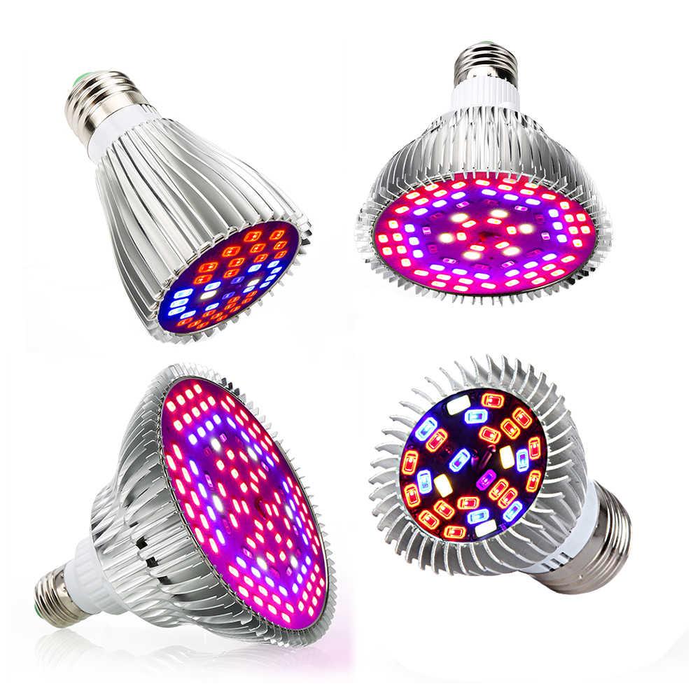 Светодиодная лампа для выращивания растений E27 5730SMD 10 Вт 15 Вт 25 Вт 45 Вт полный спектр фитолампы для растений цветок ламповый аквариум сеялка садоводства фитолампа палатка гроубокс гроутент