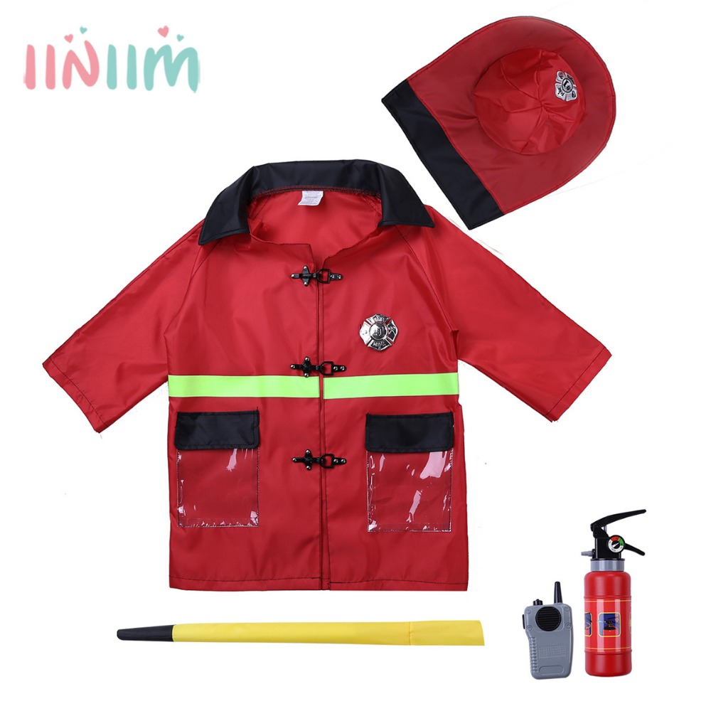 iiniim Novelty Childrens Kids Boys Role Play Costume Outfit Cosplay Uniform Party Up Set with Accessories Role Play Clothes Set