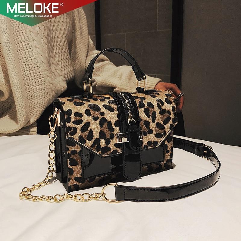 Bag Personalized Handbags Messenger-Bags Chains Leopard Trendy Design Women Brand Original