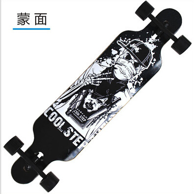 74L-14 Free Shipping KOSTON pro dancing style longboard completes with bamboo & canadian maple mixed ,46inch long skateboard set koston lb293 silk road dancing style 44 inch completed longboard