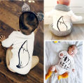 0-18M Newborn Baby Boy Girl Clothes Infant Kids Fox Tail Bodysuit Clothing