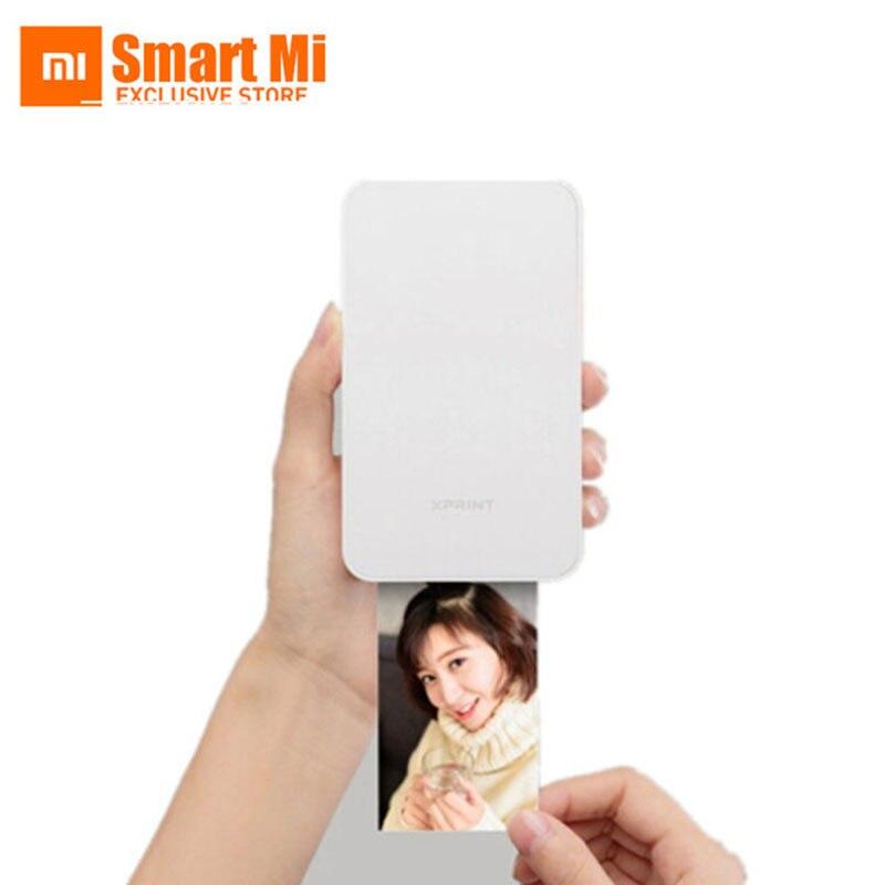 Xaomi jiyin Telefono Mobile Photo Stampante Bluetooth Si Collega Con 10 pz Carta Da Stampa Di Alta Definizione AR Foto 1670 Mila Colori