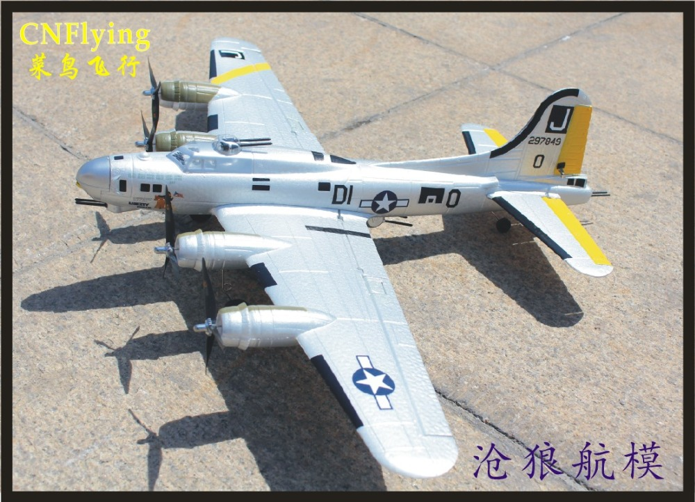 Macfree B 17 B17 RC Airplane Brushed 2.4GHz 6CH Built in 6 Axis Gyro Fixed wing 740mm Wingspan Airplane RTF