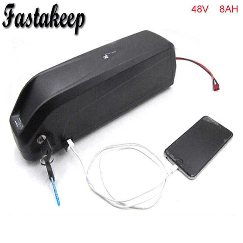 New Hailong 13s 48v Ebike Down Tube Battery 48v 8ah Brand Cell Lithium Battery For 48v 750w Bafang Motor With USB
