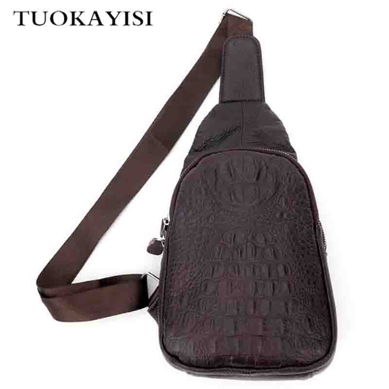 brand design fashion brown leather men messenger bags casual men's travel bags chest pack vintage Crocodile pattern shoulder bag safebet brand crocodile pattern fashion men shoulder bags high quality pu leather casual messenger bag business men s travel bag