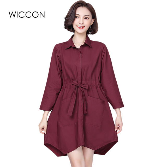 af682cfc2947d autumn long women shirts plus size bow simple casual solid Ladies Tops  blouse long sleeve China-Cheap-Clothes Defiend Waist 5XL