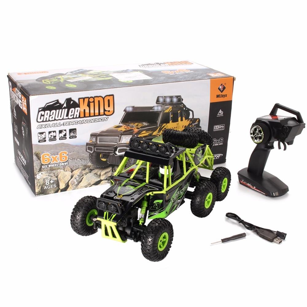 WLtoys 18628 1/18 2.4G Electric 6WD RC Racing Car Off-Road Rock Crawler Climbing Vehicle RTR Toys kulak 4x4 1 18th rtr electric powered off road crawler 94680