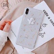От Jenny эпоксидные блестки для iPhone x xr xs max 66s 78 Plus 11Pro стерео маленький ангел Прозрачный мобильный телефон мягкий чехол