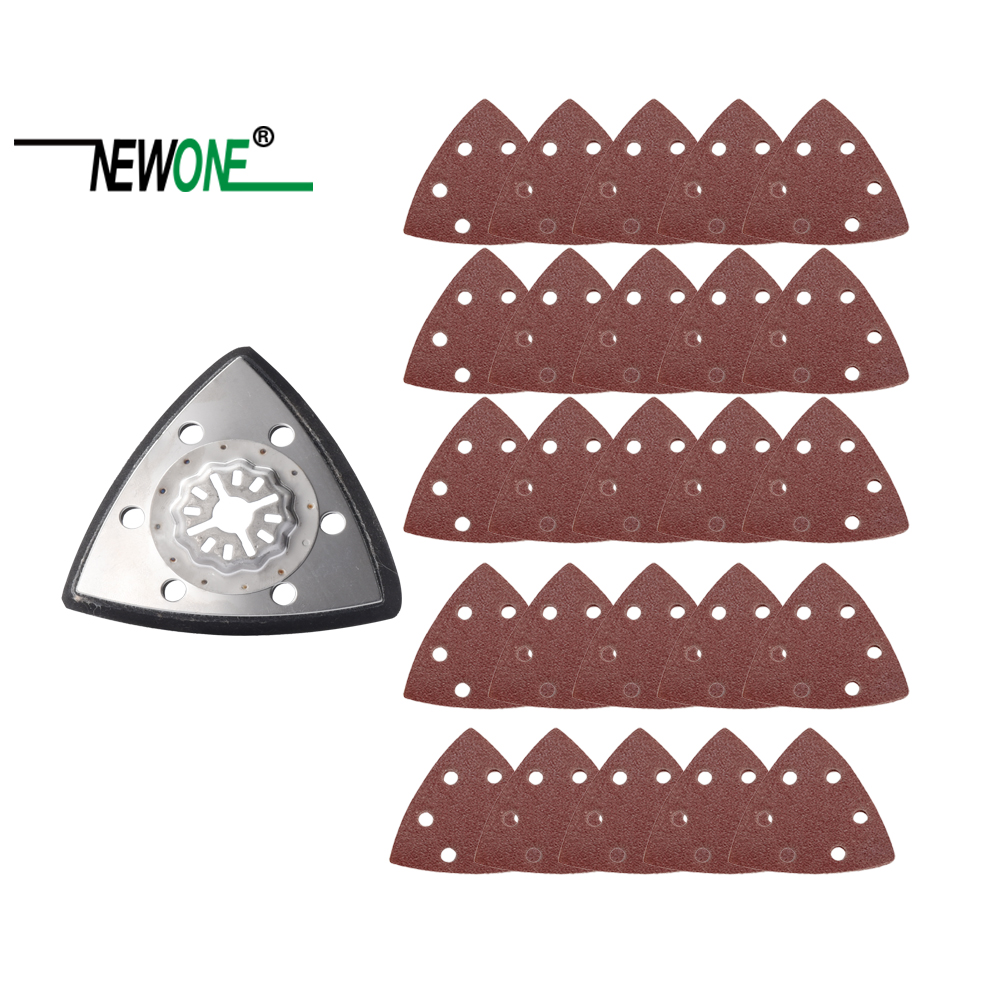 NEWONE Starlock Triangular Polish Saw Blades And Sandpaper Sets Fit Power Oscillating Tools For Polish Wood Metal Ceramic More