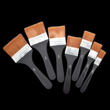 7pcs/set Nylon Hair Oil Painting Brush Watercolor Pen Different Models 165-222mm for and Acrylic