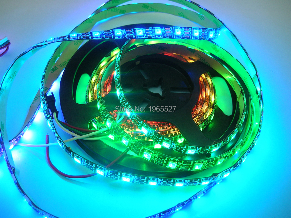60pixels/m 60leds/m 4m/roll Dc5v Input Black Pcb Sk6812 Pixel Led Rgb Strip Light Waterproof Silicon Ip65