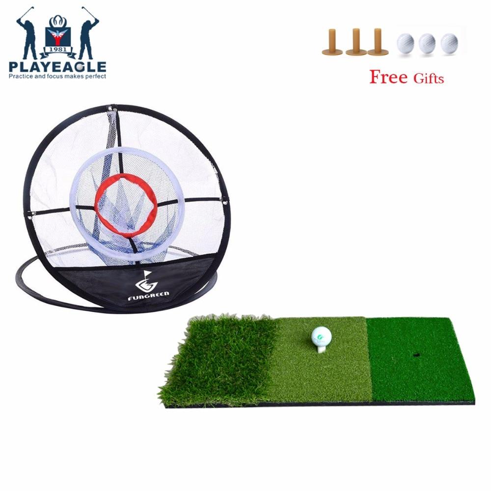 PLAYEAGLE 12x24 ''Mini Golf golpear Mat interior al aire libre Backyard práctica Golf estera Protable Golf Training Aids