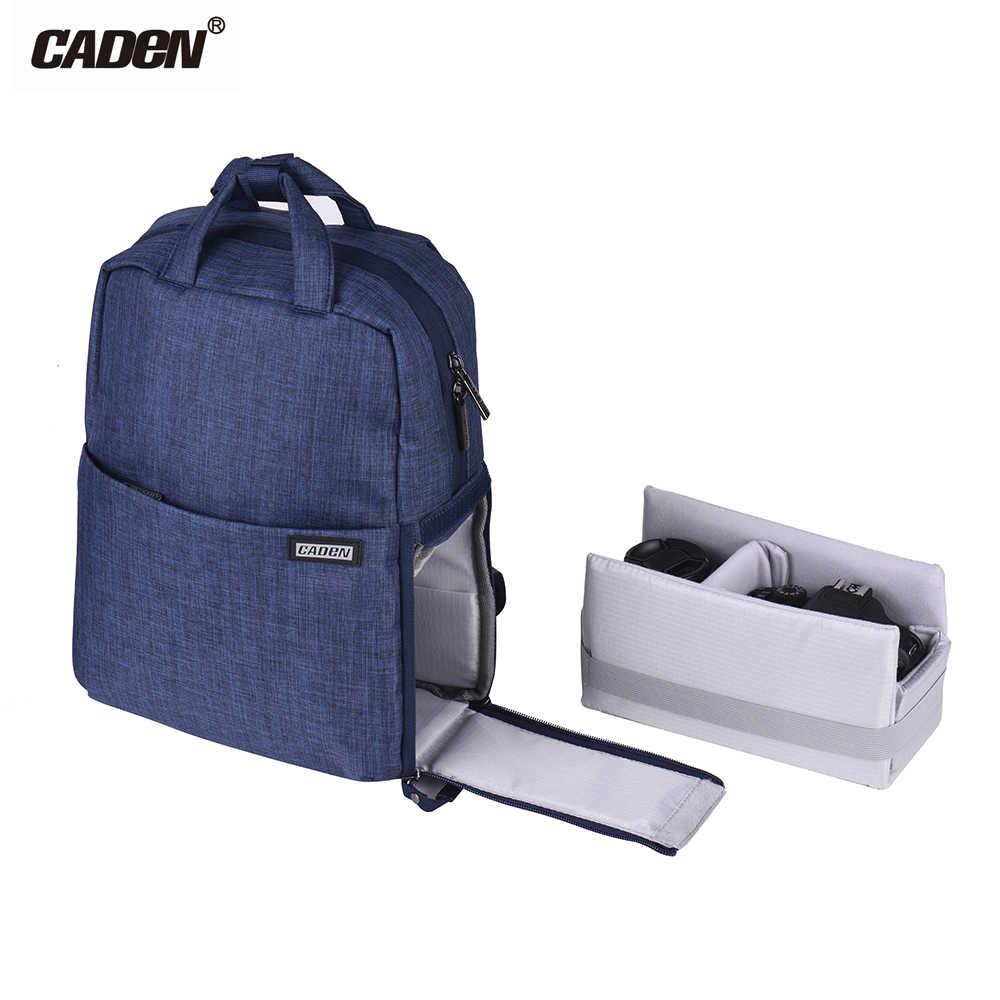 CADeN L5 a prueba de golpes impermeable DSLR Cámara mochila ocio viaje bolso de hombro para Canon Nikon Sony DSLR lente portátil Cámara bolsa