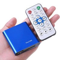 Free Shipping Mini Full 1080P HD USB External HDD Media Player Support SD Card Reading USB