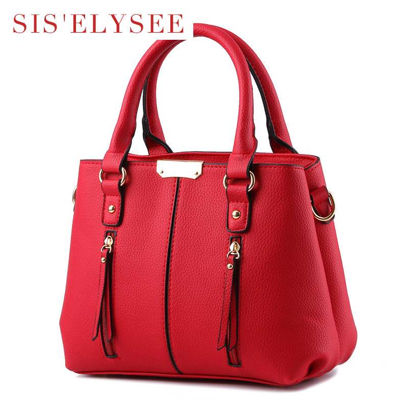 Famous Brand 2017 New Women Bag Soft Pu Material Bags Female Purses And Handbags Hot Saffiano Leather In Top Handle From