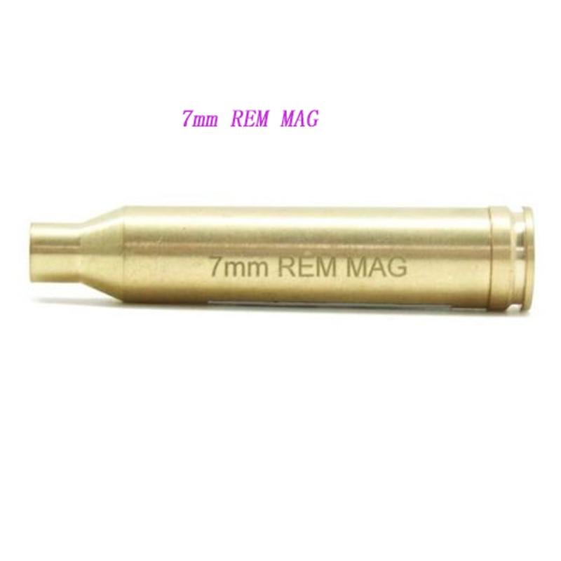 GUGULUZA Laser Sight 7mm REM MAG Laser Sight Red Boresighter Copper/Brass Cartridge For Scope Hunting