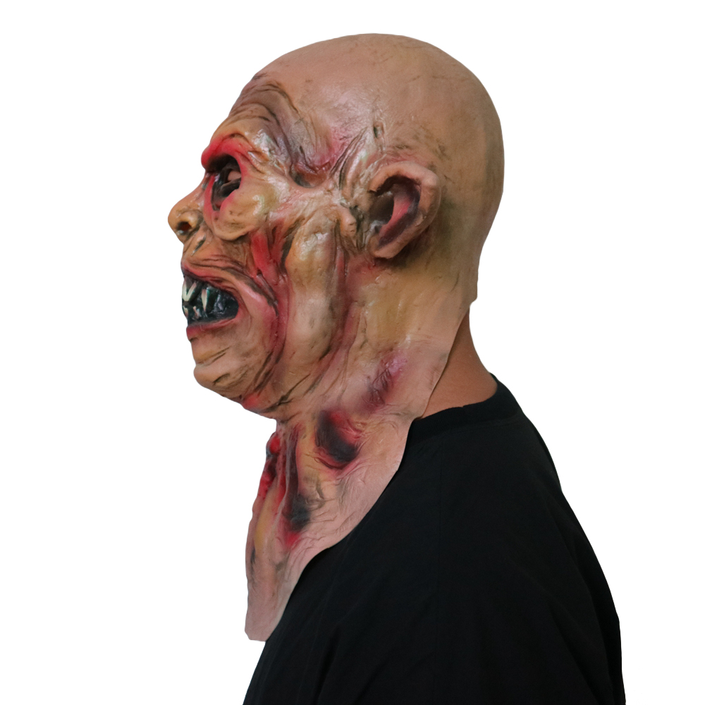 Halloween Werewolf Mask Scary Adult Latex Costume Party Horror Face Mask Full Head Vampire Cosplay Mask Masquerade Props in Party Masks from Home Garden