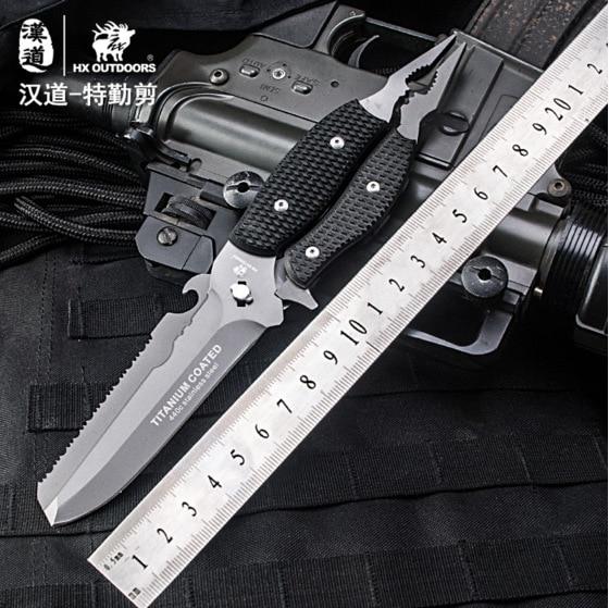HX OUTDOORS Outdoor multifunctional secret shear field survival knife self-defense fruit knife multi-purpose tool with scissors стоимость