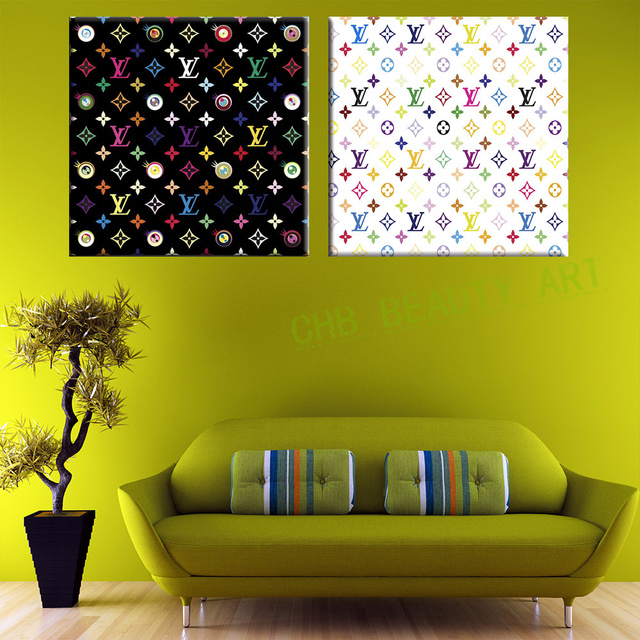 2 Pieces Takashi Murakami Modern painting wall art for Canvas Print ...