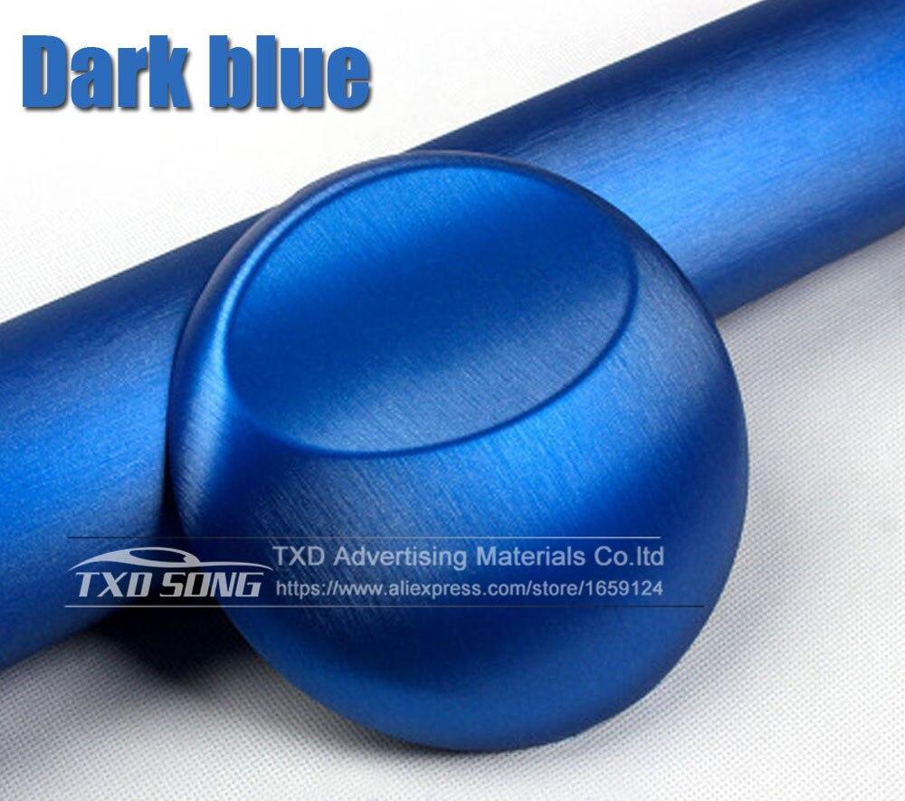 Хорошее качество, хромированная металлическая матовая алюминиевая виниловая металлическая виниловая пленка для отделки автомобиля, наклейка для стайлинга автомобиля, украшение из фольги - Название цвета: dark blue