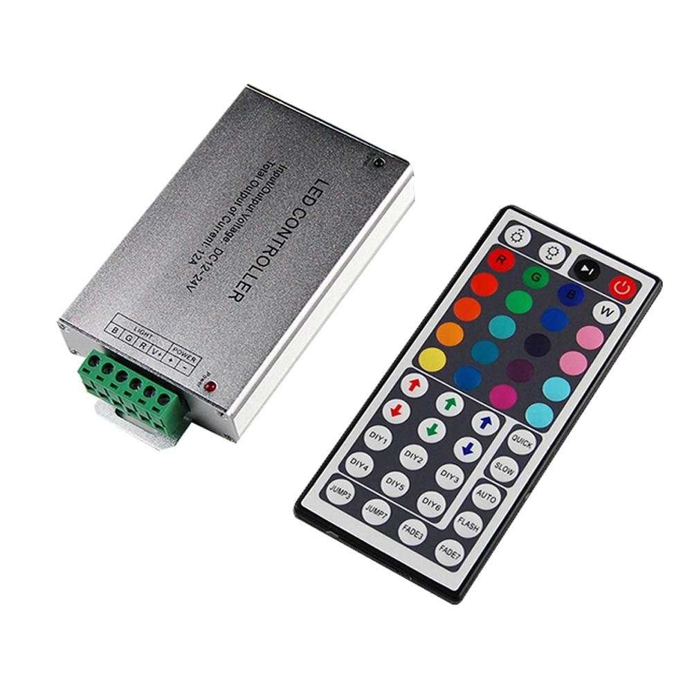Led Controller 24 / 44 Keys LED IR RGB Controler IR Remote Dimmer DC12V 144W For SMD 3528 5050 10m-20m LED RGB strip цена