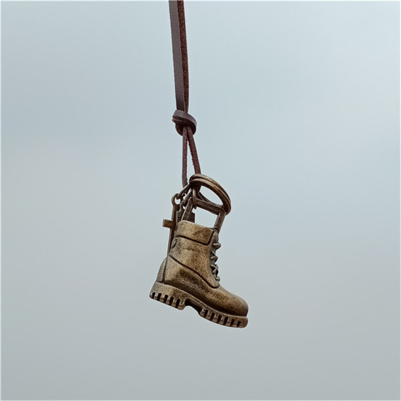 Necklace Men Pendant Army-Boots Hiking Vintage Excursion-Shoes Old Classic Go