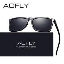 AOFLY marka tasarım klasik siyah polarize güneş gözlüğü erkekler sürüş güneş gözlüğü erkek Vintage Shades gözlük Oculos UV400