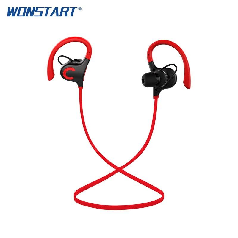 Wonstart Wireless Earphone Bluetooth Headset with Mic In Ear Sport Headphones Deep Bass Sound Earbuds for Xiaomi Sumsung iPhone