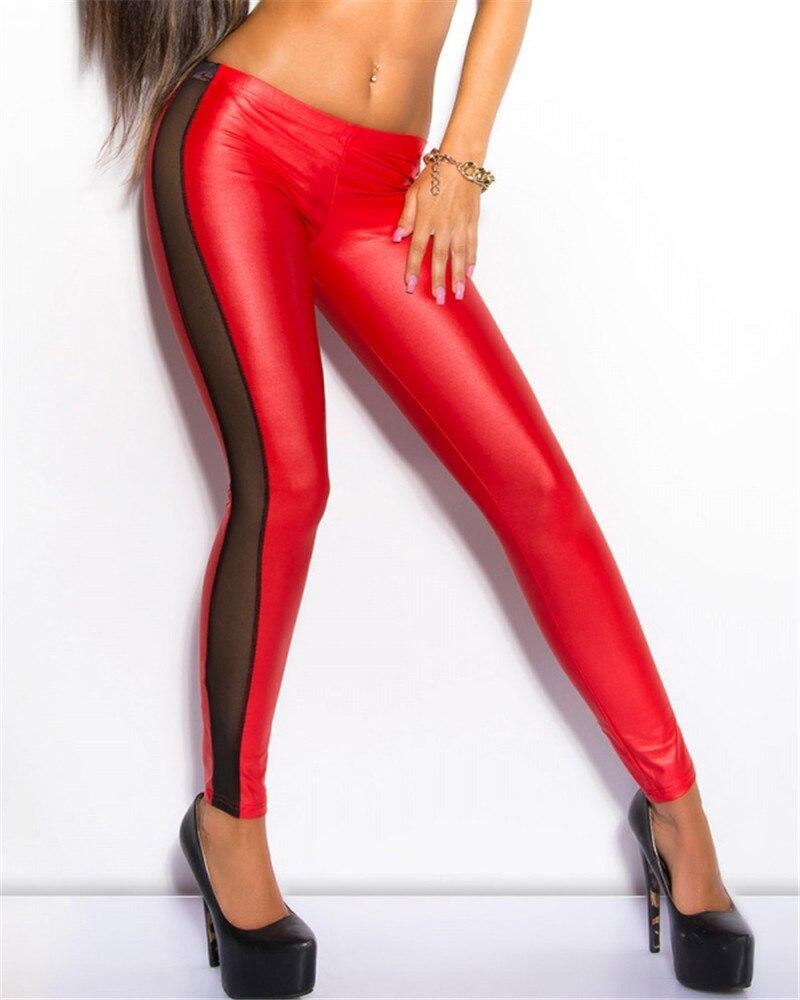 J2419 טלאי חותלות נשים סגנון אופנה צבעים רב פופולרי jeggings חותלות דמוי עור סיטונאי וקמעוני
