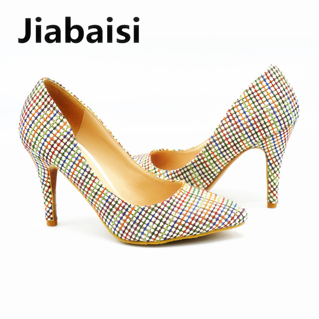 Jiabaisi shoes women pumps woven grids pointed toe 3532 inches jiabaisi shoes women pumps woven grids pointed toe 3532 inches heel pumps altavistaventures Image collections